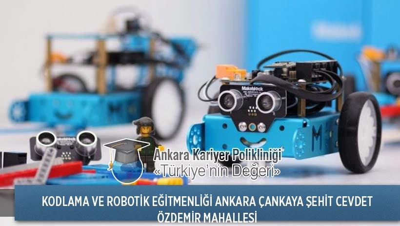 Ankara Çankaya Şehit Cevdet Özdemir Mahallesi Kodlama ve Robotik Eğitmenliği