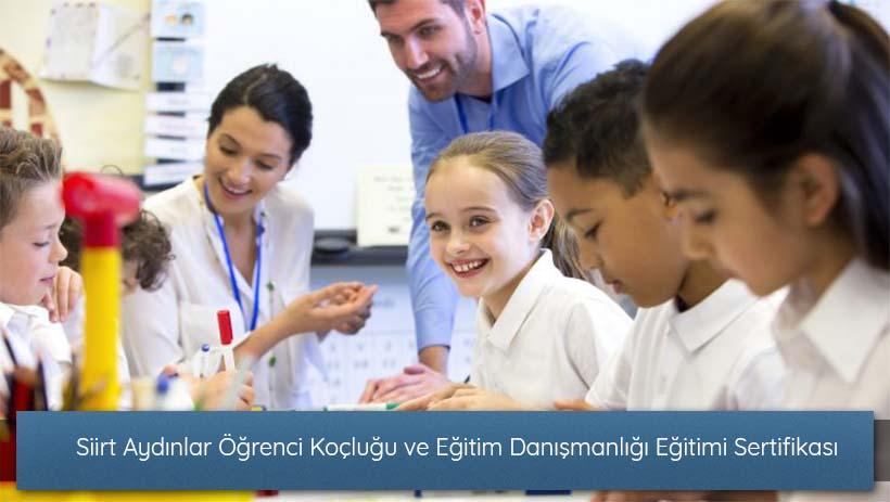 Siirt Aydınlar Öğrenci Koçluğu ve Eğitim Danışmanlığı Eğitimi Sertifikası